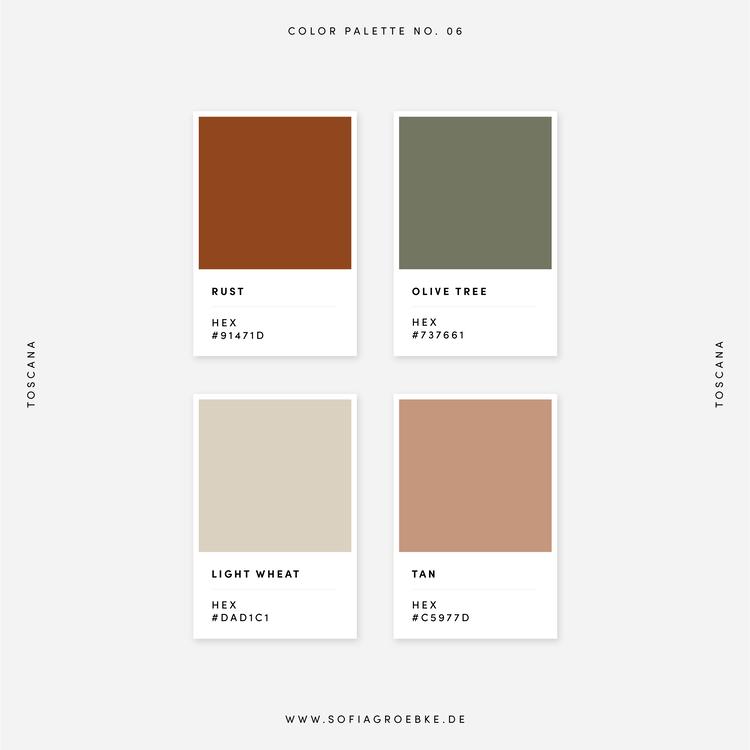 Farbpalette Farbkombination Color Palette