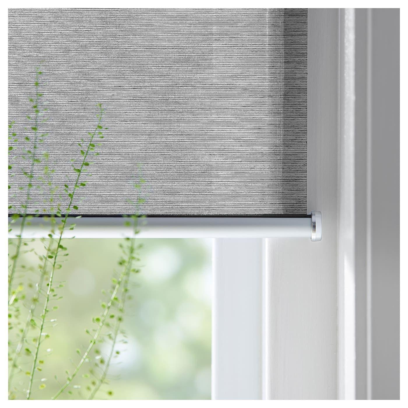 Skogsklover Roller Blind Gray 23x76 Ikea In 2020 Sliding Door Window Coverings Roller Blinds Door Coverings