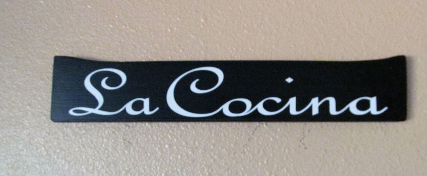 Gift For The Kitchen Custom Spanish Wood Sign That Says La Cocina The Kitchen