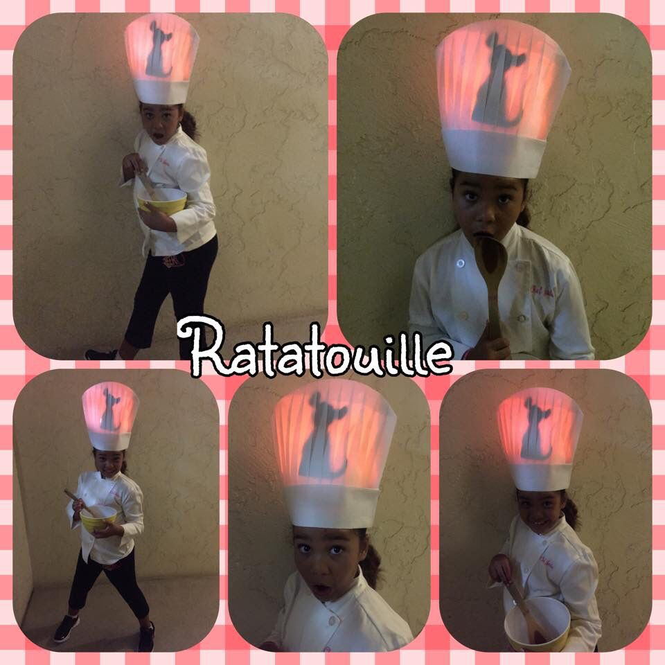 My Daughter Went As The Chef In Ratatouille This Year For Halloween This Was The Easiest Costume We Ve Put Halloween Coustumes Family Halloween Halloween Kids