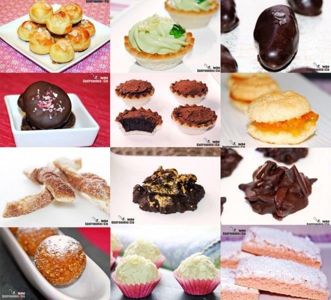 doce recetas de petit fours para navidad