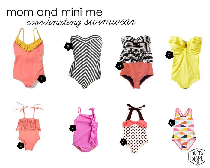 1d7466af7c433 Mommy and Mini-Me Coordinating Swimwear