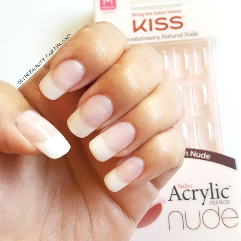 Kiss Acrylic Nude French Nails Review | Nails | Pinterest | French ...