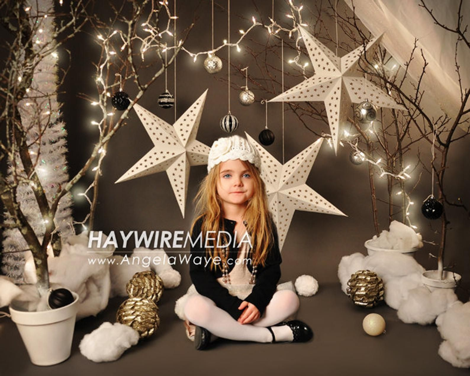 Baby, Toddler, Child, Winter Tree Star Photography Digital Backdrop Prop for Photographers #backdropsforphotographs