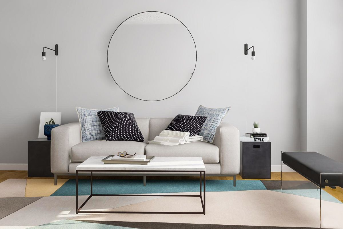 Layout Guide A Rectangular Living Room Done Two Ways Modsy Blog Minimal Living Room Rectangular Living Rooms Minimalist Living Room