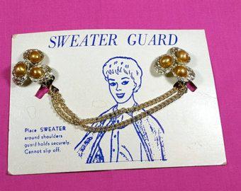Vintage Sweater Clip  sweater guard metal