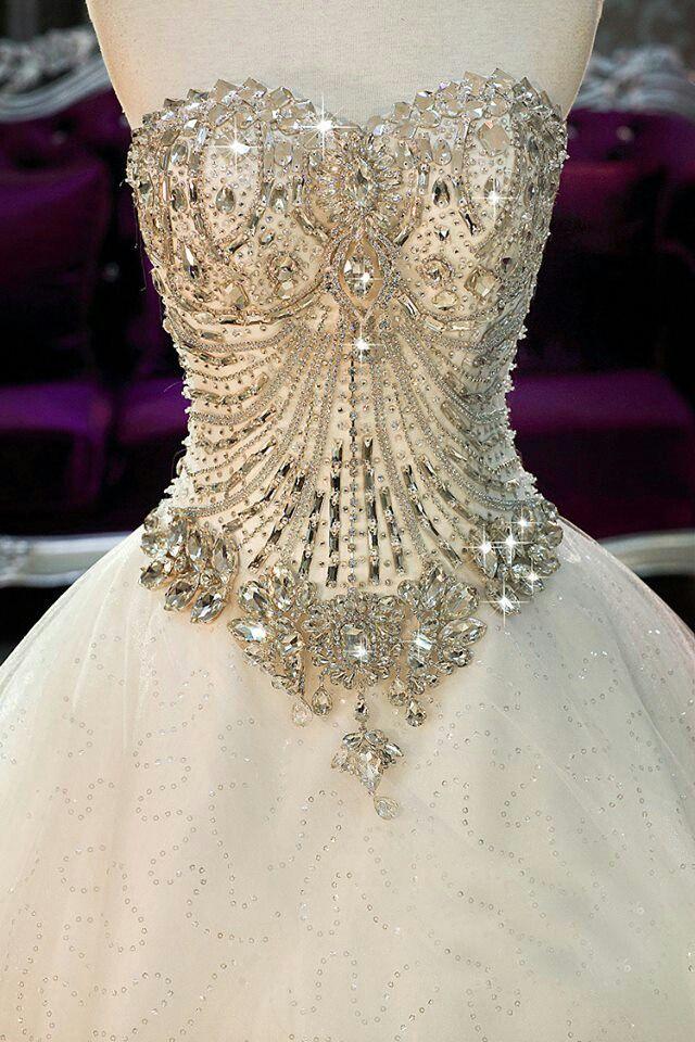 Jeweled Corset Wedding Dress   visual art   Pinterest   Corset ...