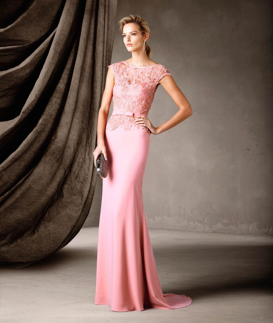 CARMEN - Vestido largo con sensuales transparencias Pronovias | s ...
