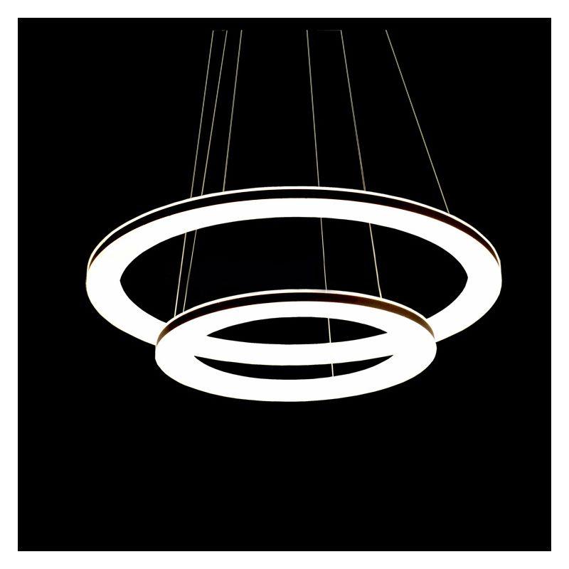 kaufen eu lager led pendelleuchte aus 2 polyester ring im. Black Bedroom Furniture Sets. Home Design Ideas