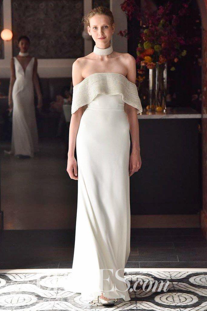 Lela Rose Off-The-Shoulder Wedding Dress Spring 2018 | http://www ...