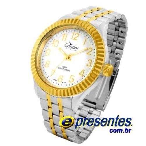 9b2cf07ddfd KT70246B Relógio de Pulso Condor New Analógico aço Masculino ...