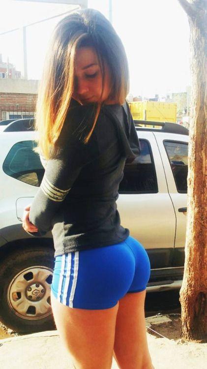 Hot teen athletic short ass