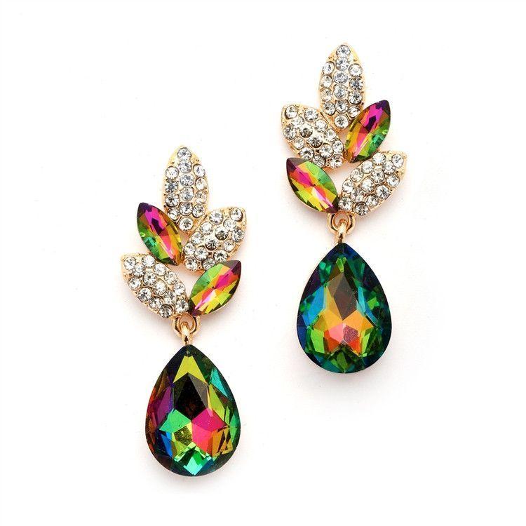 Unique Vitrail Medium Dangle Bridesmaid Earrings