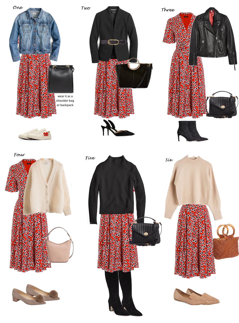 Verschiedene Möglichkeiten ein Kleid zu tragen und Spikes zu verkaufen Lilly Stil #dailydressme