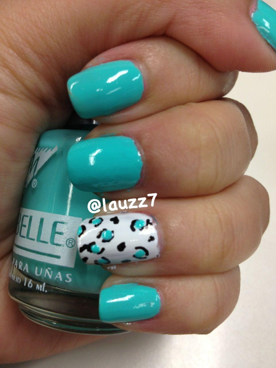 Day 13: Animal print nails #31dayNailArtChallenge Amo el color del ...