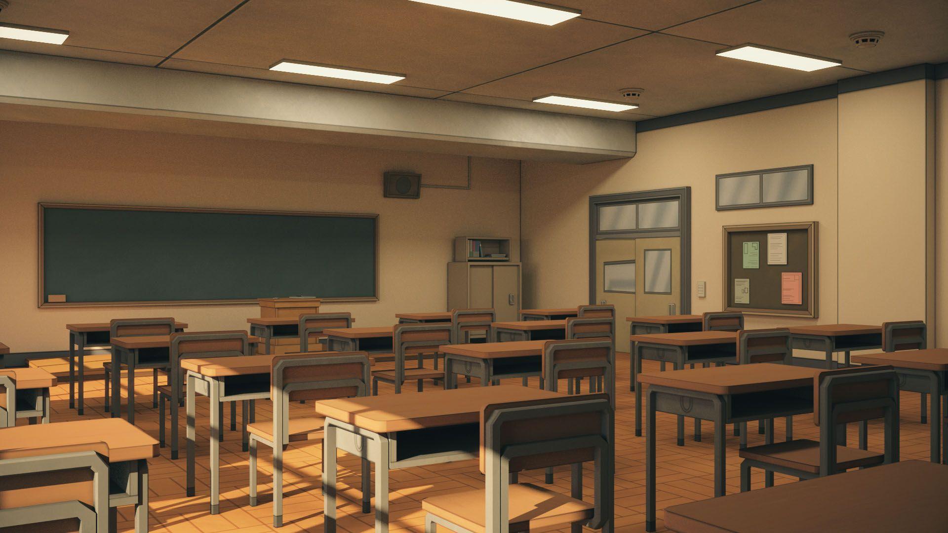 Anime Classroom Anime Classroom Classroom Architecture Classroom
