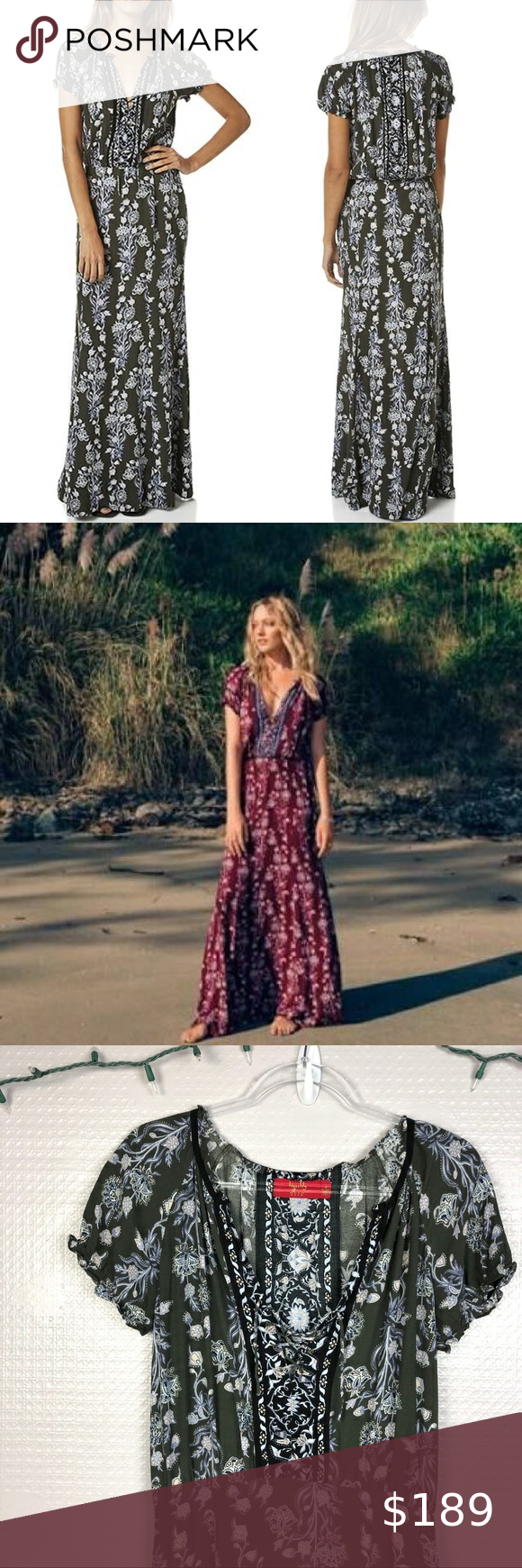 Tigerlily Carriacou Maxi Dress In Olive 6 Paisley Print Maxi Dress Leopard Print Maxi Dress Tigerlily Maxi Dress
