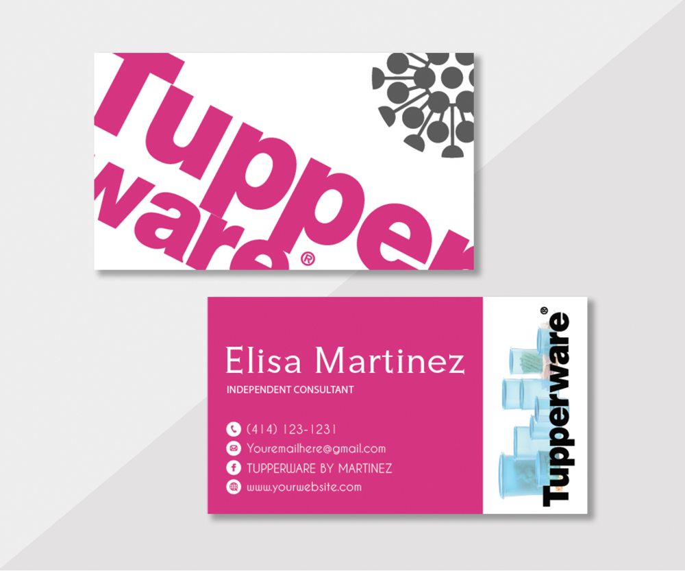 tupperware business cards personalized tupperware card