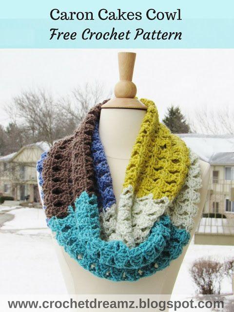 Caron Cakes Crochet Pattern, Infinity Scarf Crochet Pattern ...