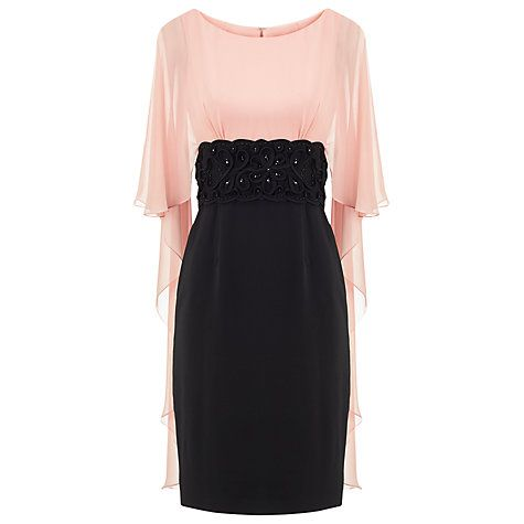 Buy Phase Eight Limited Edition Dress Eleven, Black/Pink Online at johnlewis.com