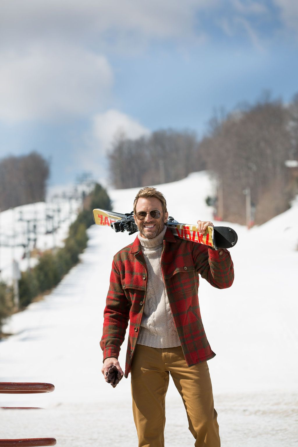 Hit the slopes in our Berkshire Jacket and Twill Khakis!