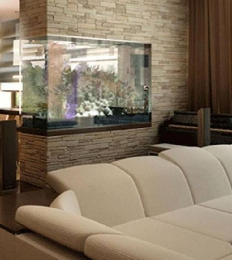 Unusual Aquarium Design To Your Living Room