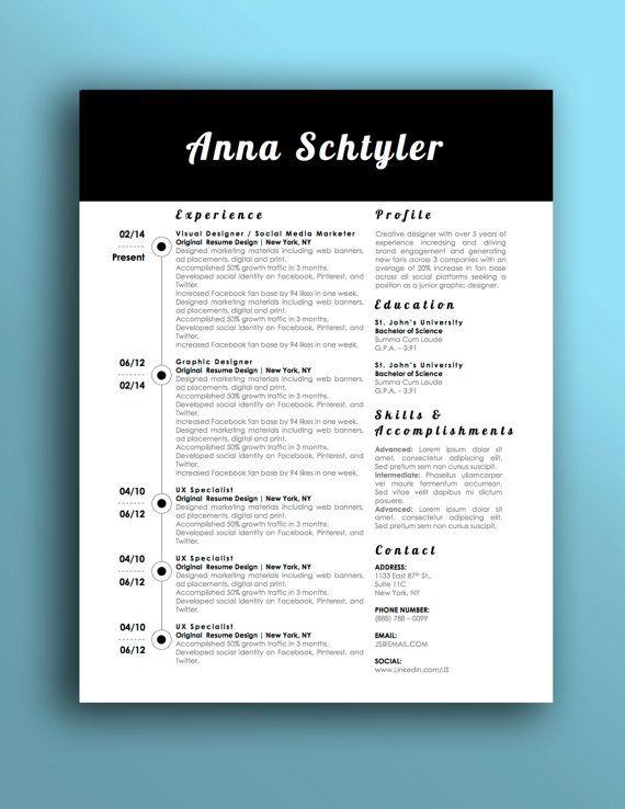 Microsoft Word Coupon Template Anna Schtyler Resume Template For Microsoft Word With Matching Cover .
