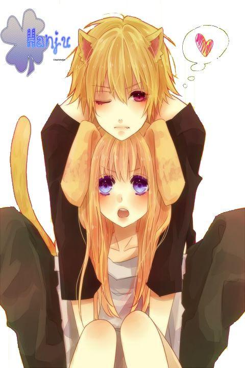 Anime Neko Couple Cute Cute Anime Cat Anime Cat Boy Anime Neko