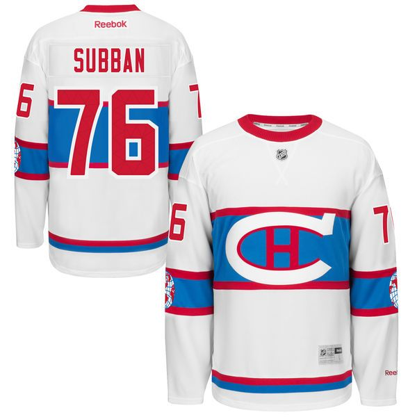 size 40 016b6 b3648 canadiens pk subban white 2016 winter classic jersey | NHL ...