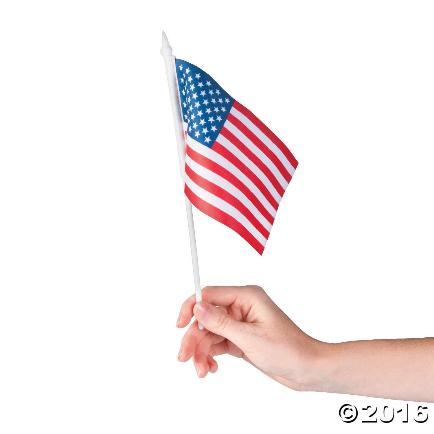 Small American Flags on Plastic Sticks Small american