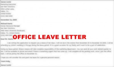 How To Write Leave Letter For Office  Careers  Jobs