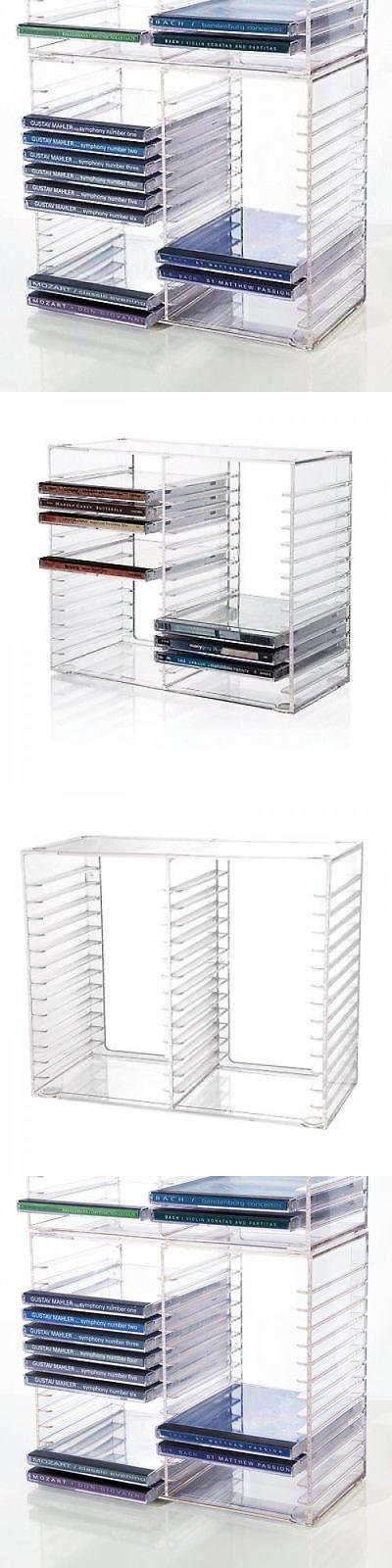 Storage Rack CD 30 Jewel Case Holder Stand Organizer Crystal Clear Shelf Decor