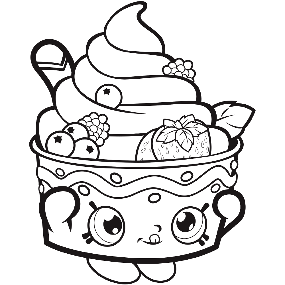 Fruit Cake Coloring Pages Designs Trend