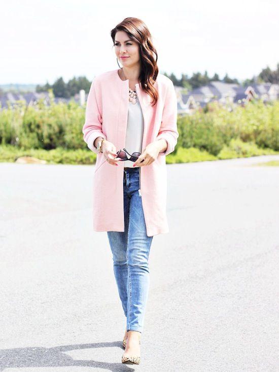 bubble gum Pink coat Home | Jillian Harris | Anastasia's Style ...