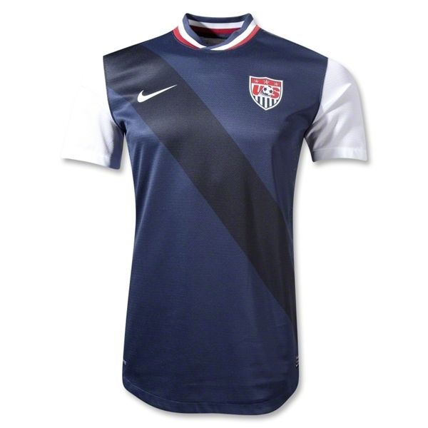 USA 12/13 Authentic Away Soccer Jersey
