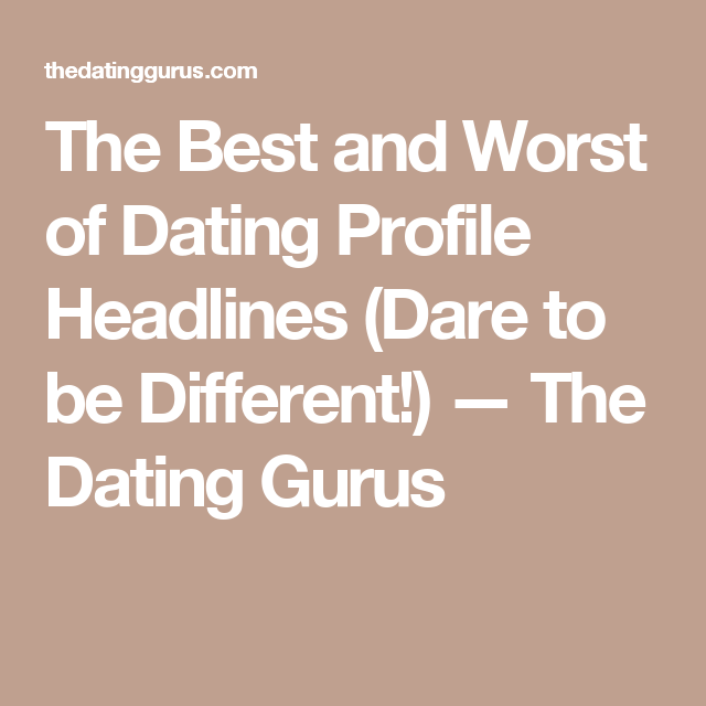 opening Headlines dating sites