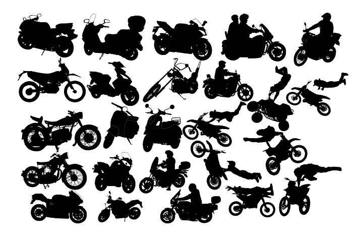 Motorcycle Silhouette Png Svg Eps Dxf From Designbundles Net
