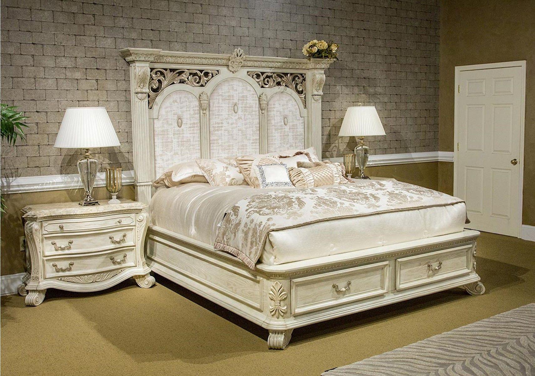 Lacks | Villa Di Como 4-Pc King Bedroom Set | Old World Furniture ...