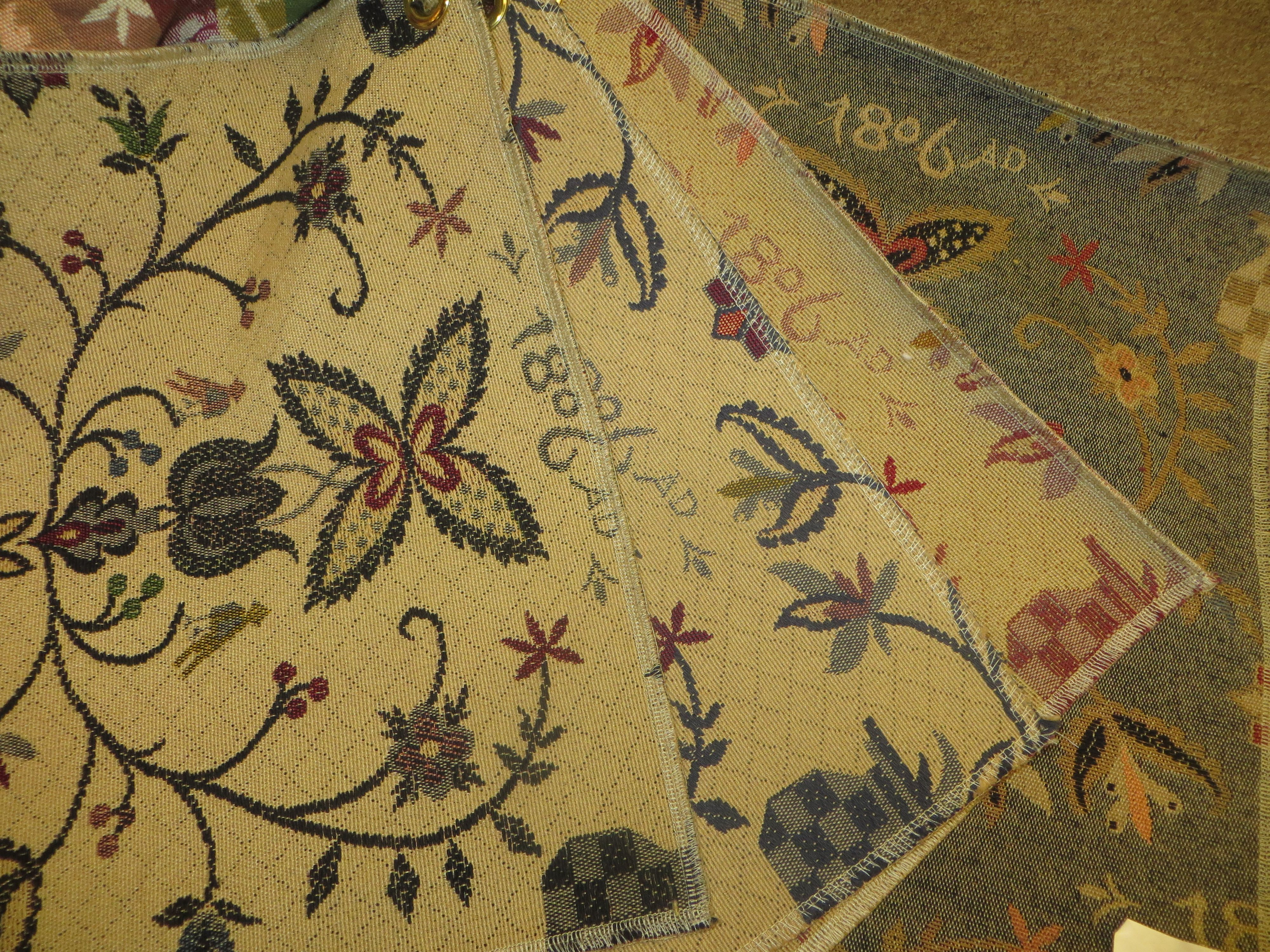 colonial print upholstered furniture fabric www theredbrickcottage
