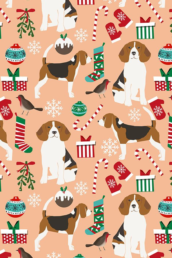 Colorful Fabrics Digitally Printed By Spoonflower Beagle