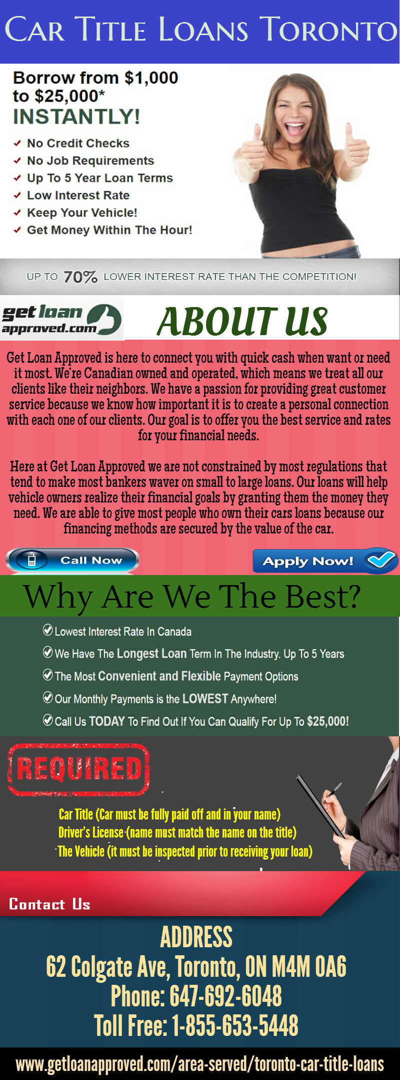 Worried About Your Credit Don T Be Get Loan Approved Providing Low Interest Rate Loans On Bad Credit Across Toronto Area Www Getl Car Title Loan Toronto