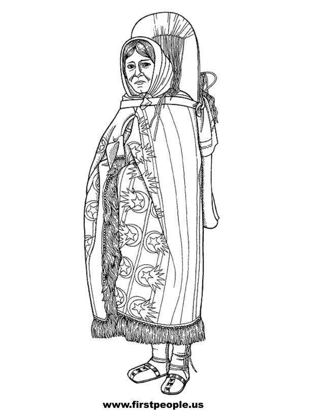 Sacagawea - Clipart to color in. | American History | Pinterest ...