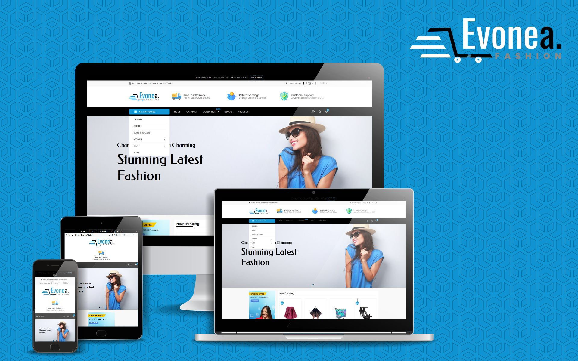Evonea multipurpose shopify theme 78177 with images