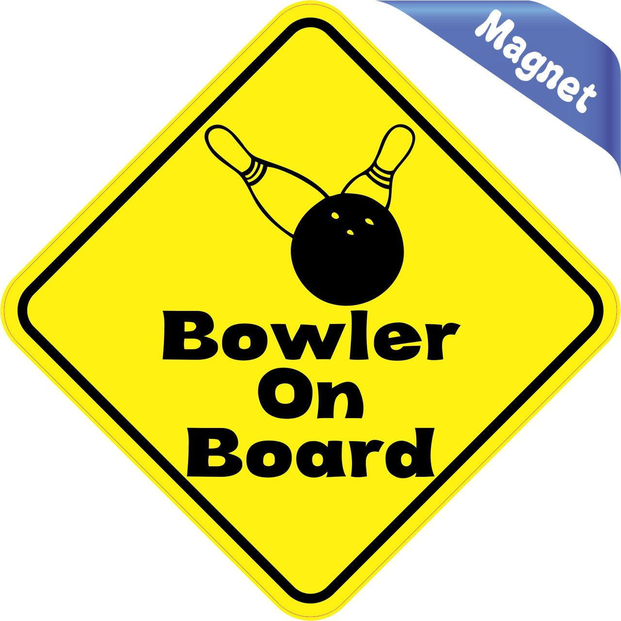 4 5 x4 5 bowler on board bumper magnet decal vinyl magnetic magnets car decals