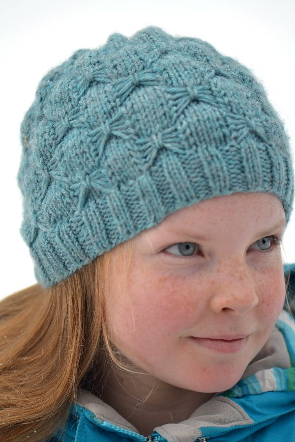 Free Knitting Pattern for Beads and Bows Headband - Beanie with all ...