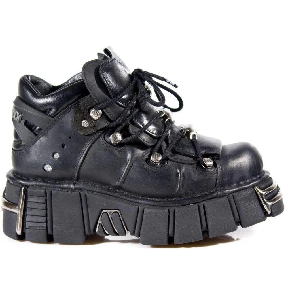New Rock Unisex Metallic Gothic Shoes - M.106-S1 - Dark Fashion Clothing