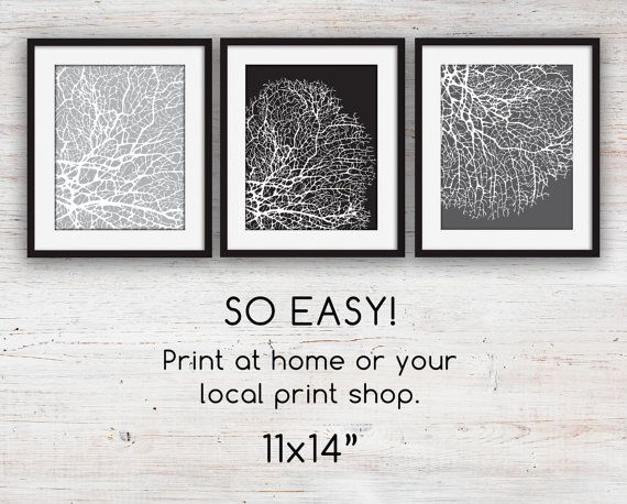 Like Art Print Sets? Check out my stores home decor section for more like this: http://etsy.me/1m6shi0  Similar from my shop: A different coral