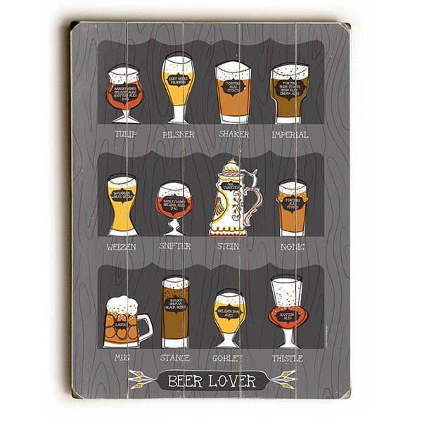 Beer Lover by Artist Tammy Smith Wood Sign @ eTriggerz.com  http://etrigger.myshopify.com/products/ahs-0009-7188  #vintagesigns #fooddrink