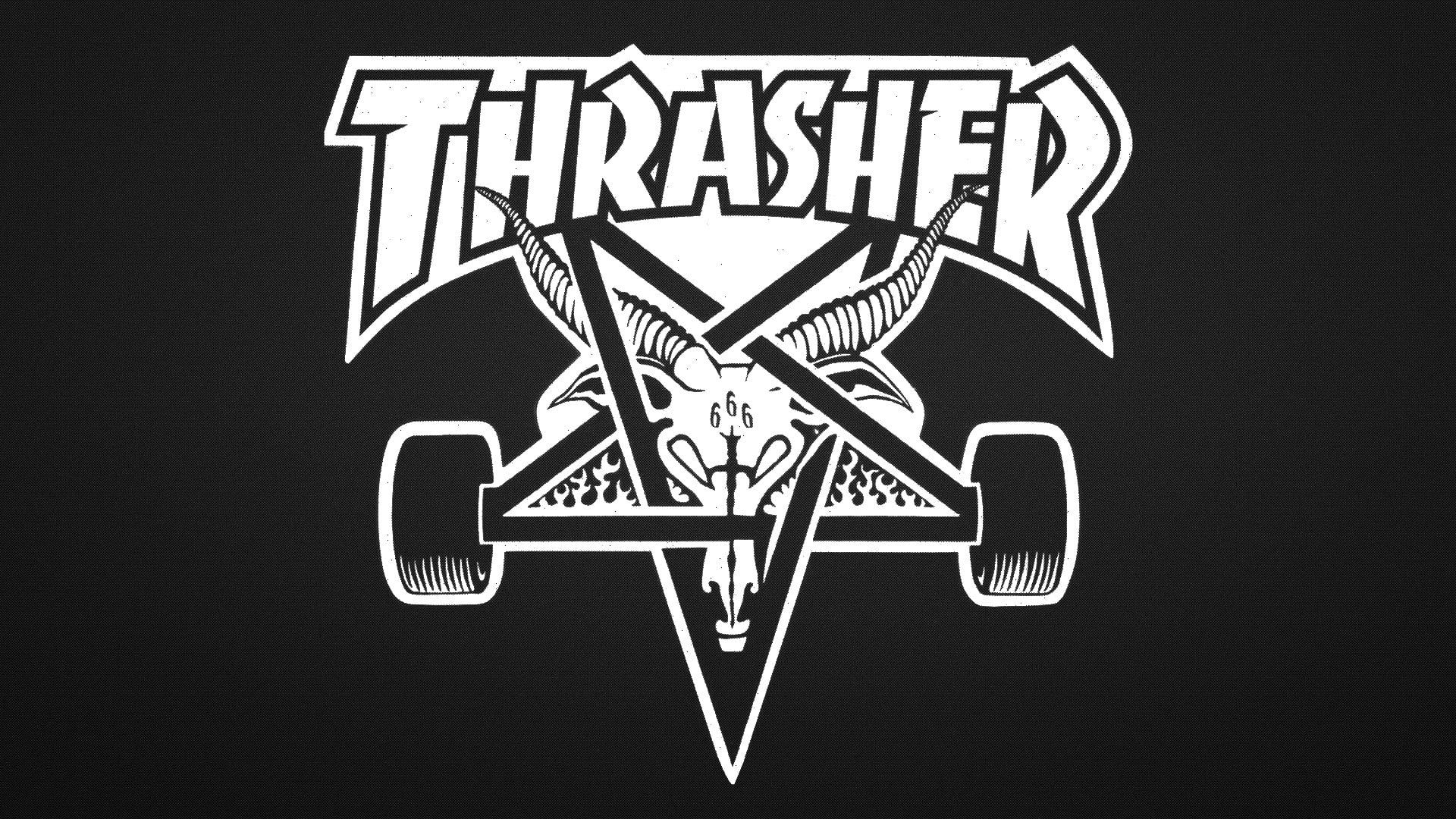 Thrasher Logo Skateboarding Thrasher Pentagram Baphometh Skating 1080p Wallpaper Hdwallpaper Desktop Skateboard Logo Thrasher Skate Art