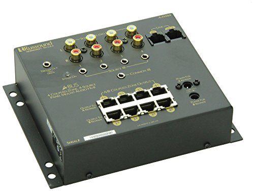 Russound Ah484 Abus 4 Zone 8 Room 4 Source Audio Distribution Hub